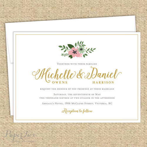 Michelle Suite Wedding Invitation