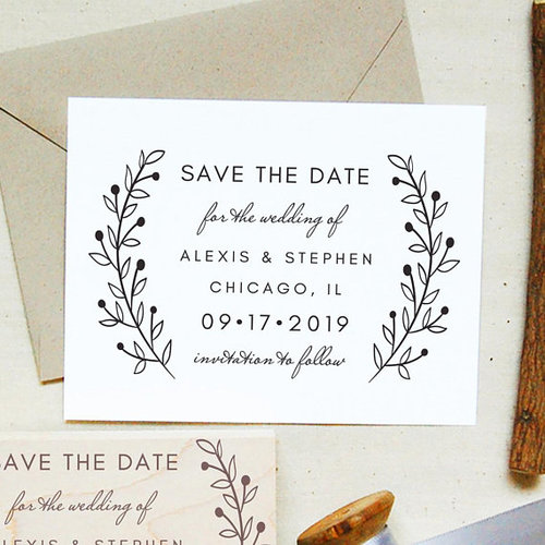 save the date stamp 29 paperlux fine stationery