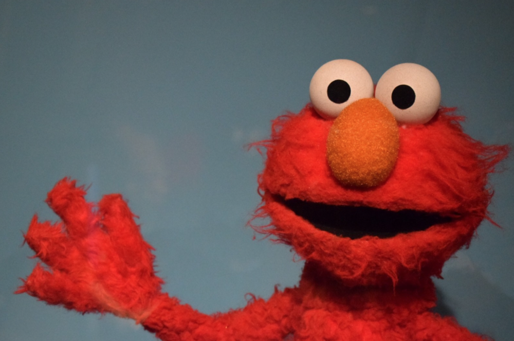 Elmo is one of 300 puppets on display.