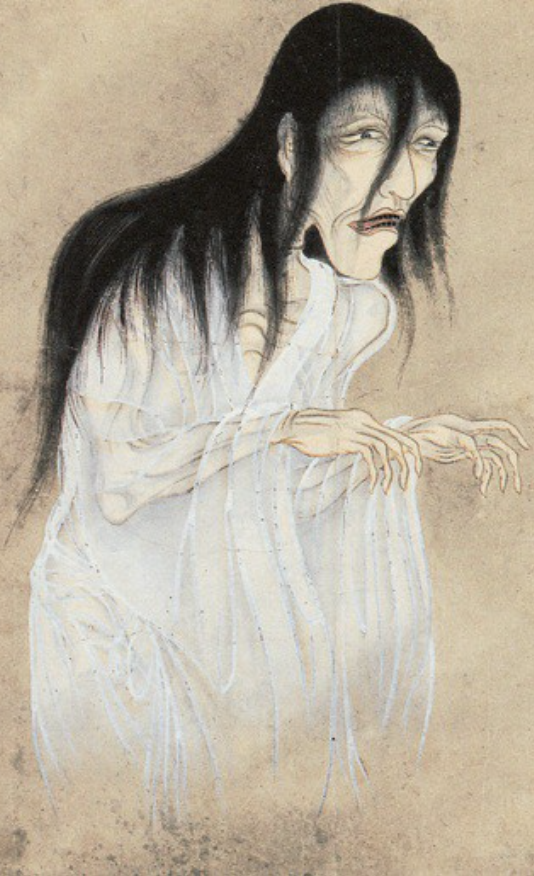 Traditional illustration of a yūrei.