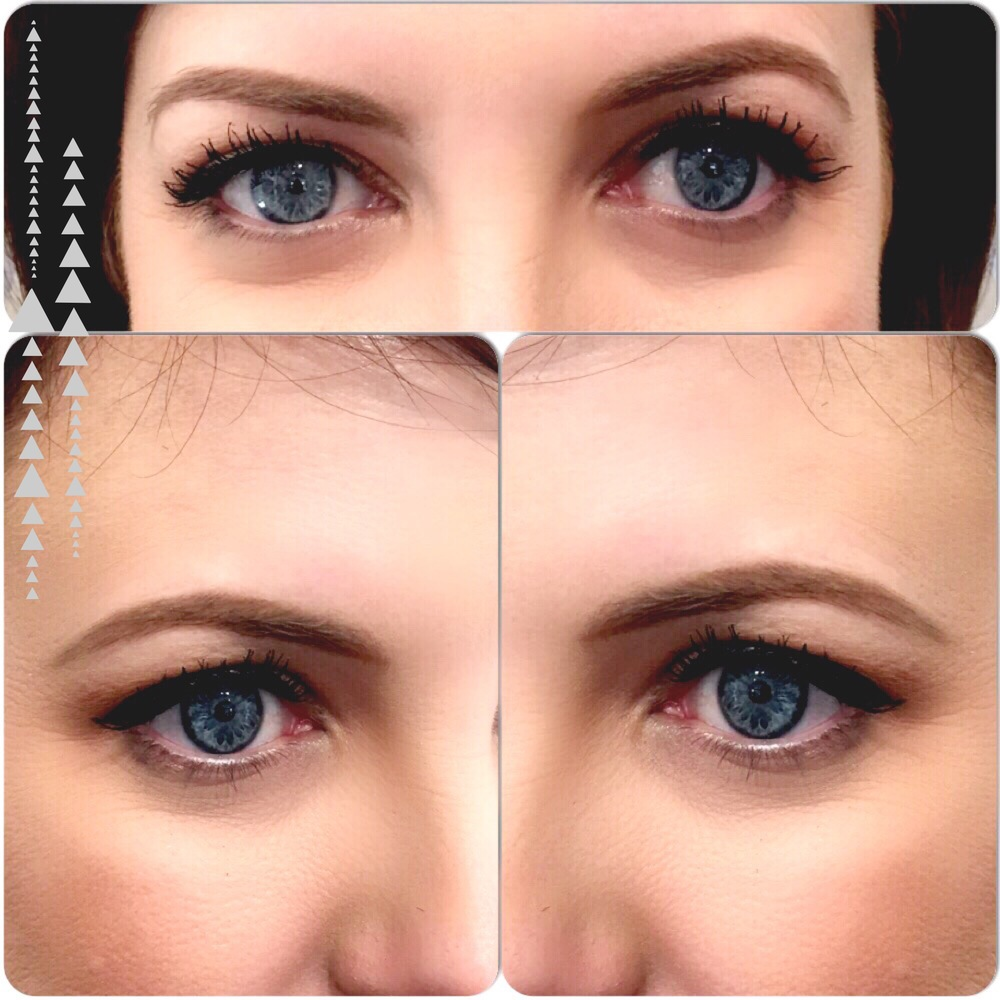 This is an example of a client of mine and how we fill her brows in for a natural look!! I used pencil here in two complimentary colors.