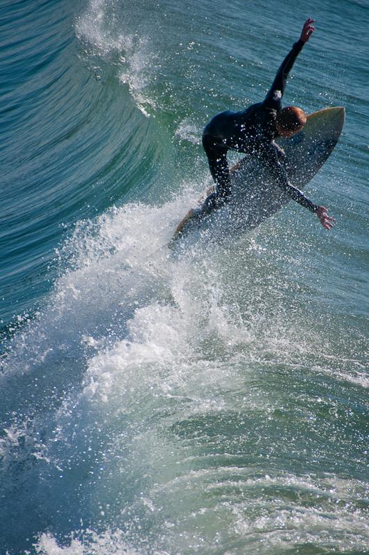 Surfer in Manhattan Beach