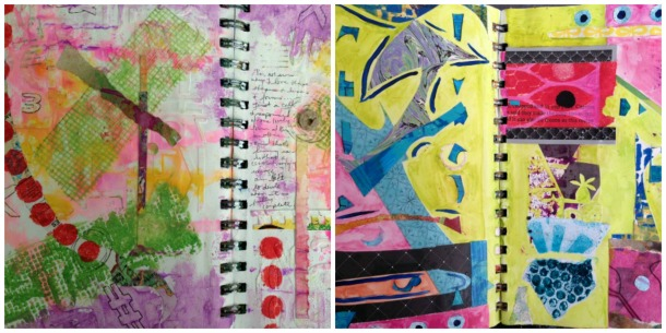 Abstract Collage pages