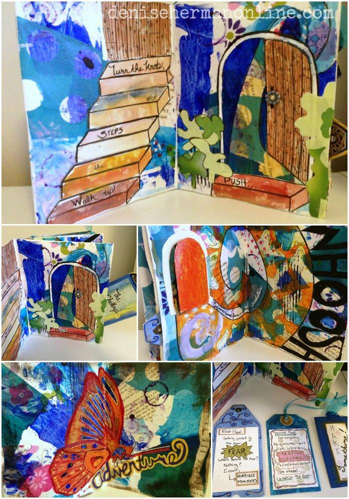 minibook collage