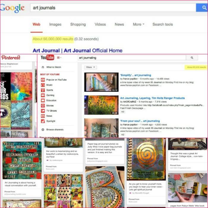 Art journal web results