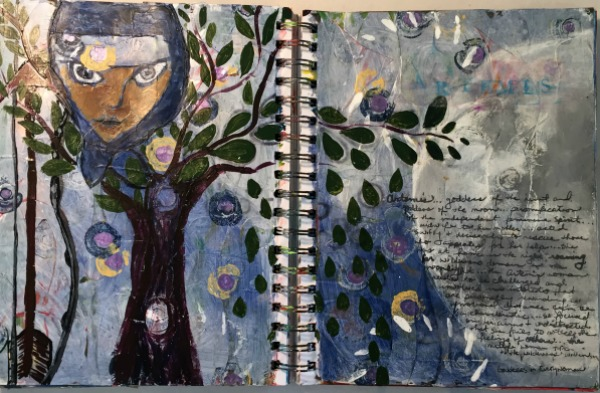 Artemis Art Journal Spread