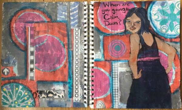 A day in the life of me, her Art Journal