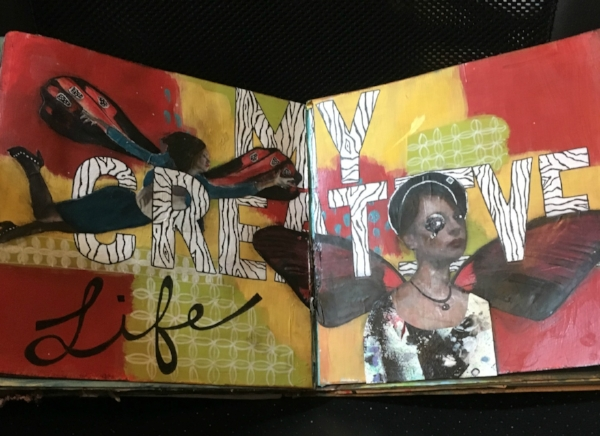 Playing around in my art journal..