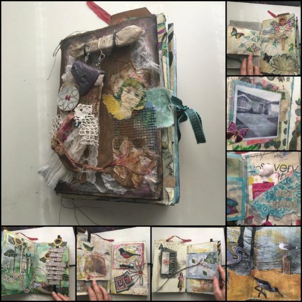 Handmade Altered Art Journal, mixed media