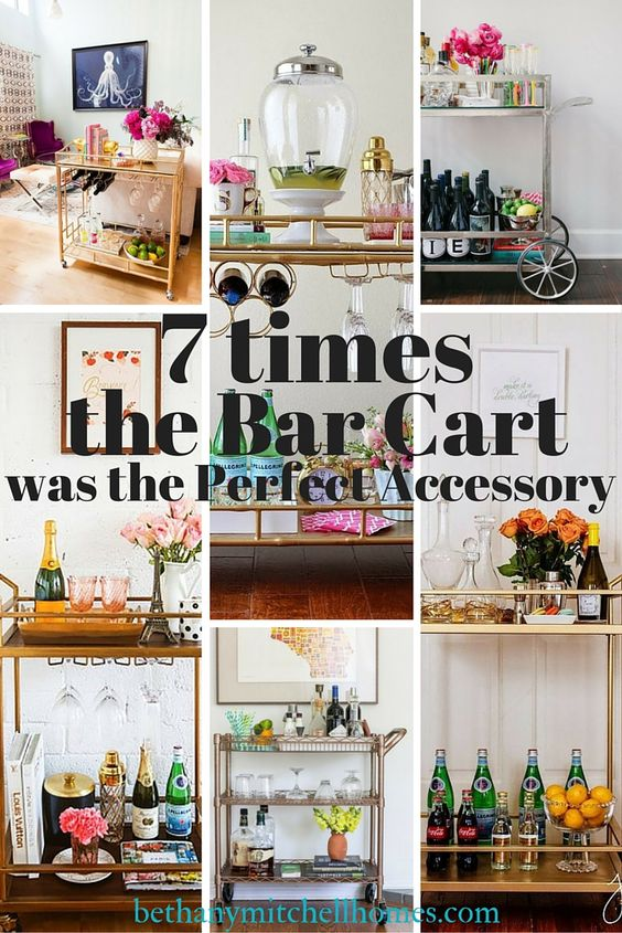 Bethany Mitchell Homes: 7 Times the Bar Cart was the Perfect Accessory