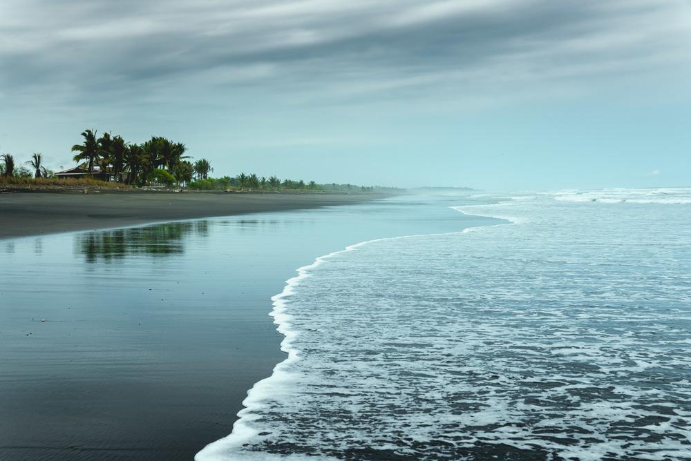 Miles of desolate beach at Playa Hermosa