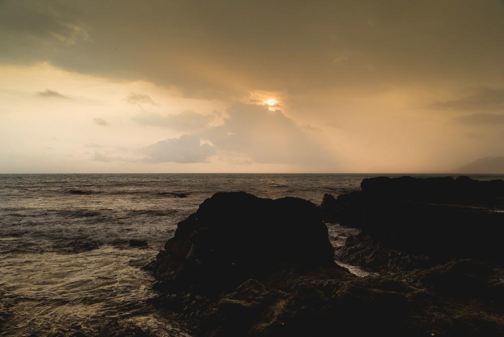 Sunset on Playa Jaco.