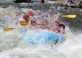 Getting a big slash in Jaws Rapid