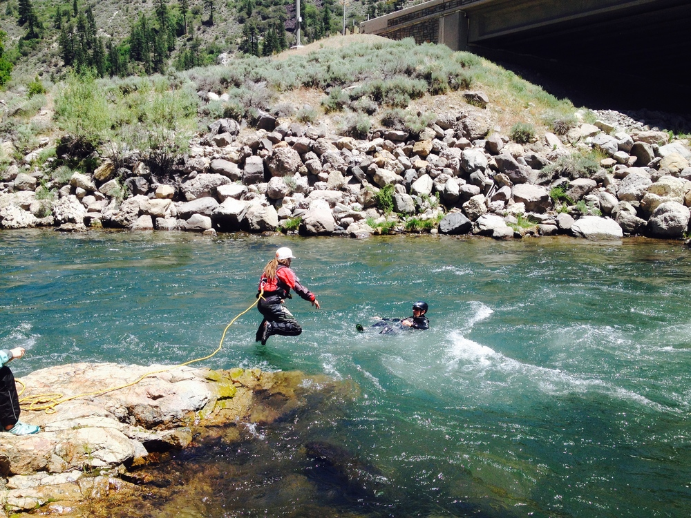 Swift Water Training on Truckee River