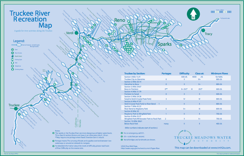 truckeeriverrecreation map