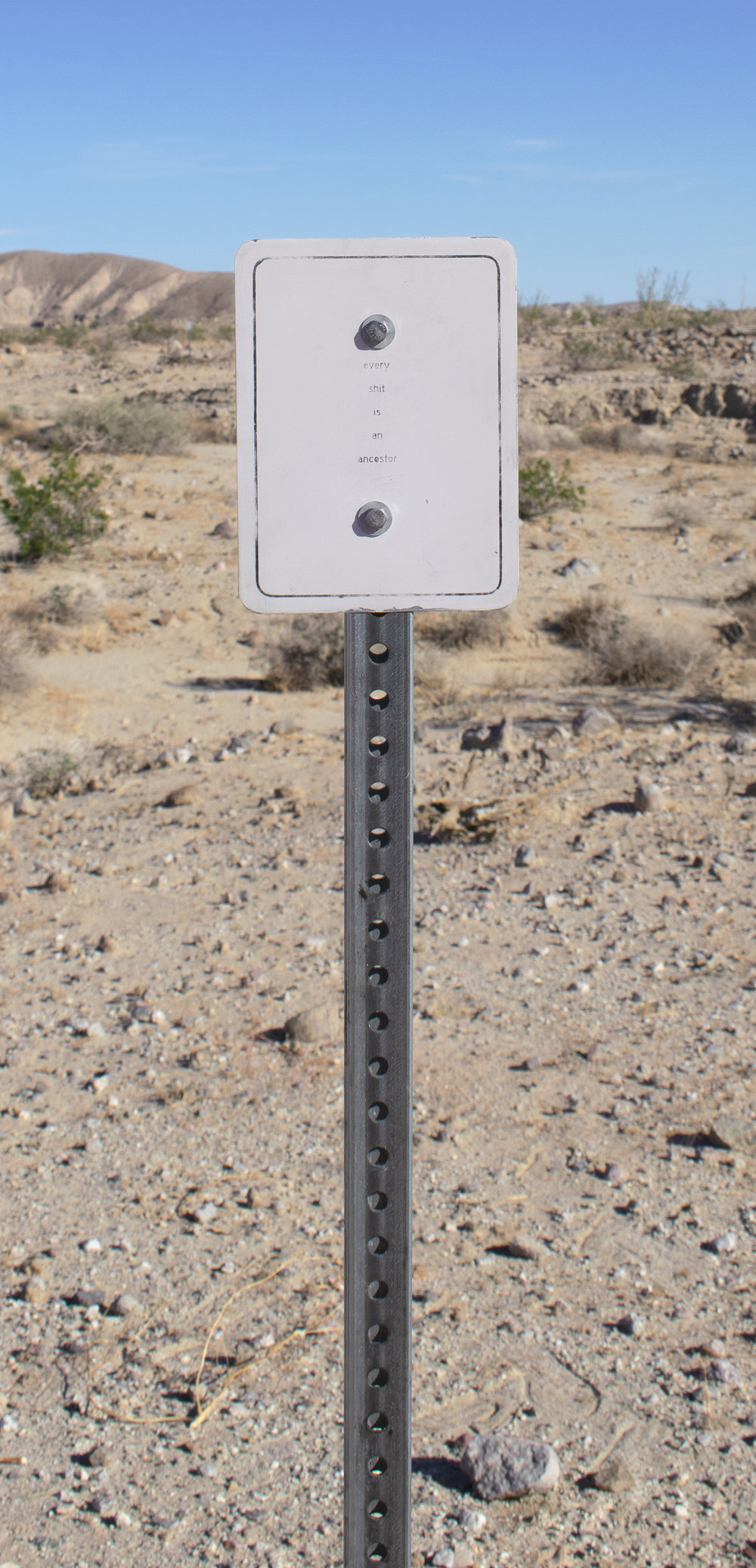 children of the sun    Galvanized Steel Signs and Posts   Dimensions Variable  2018-19