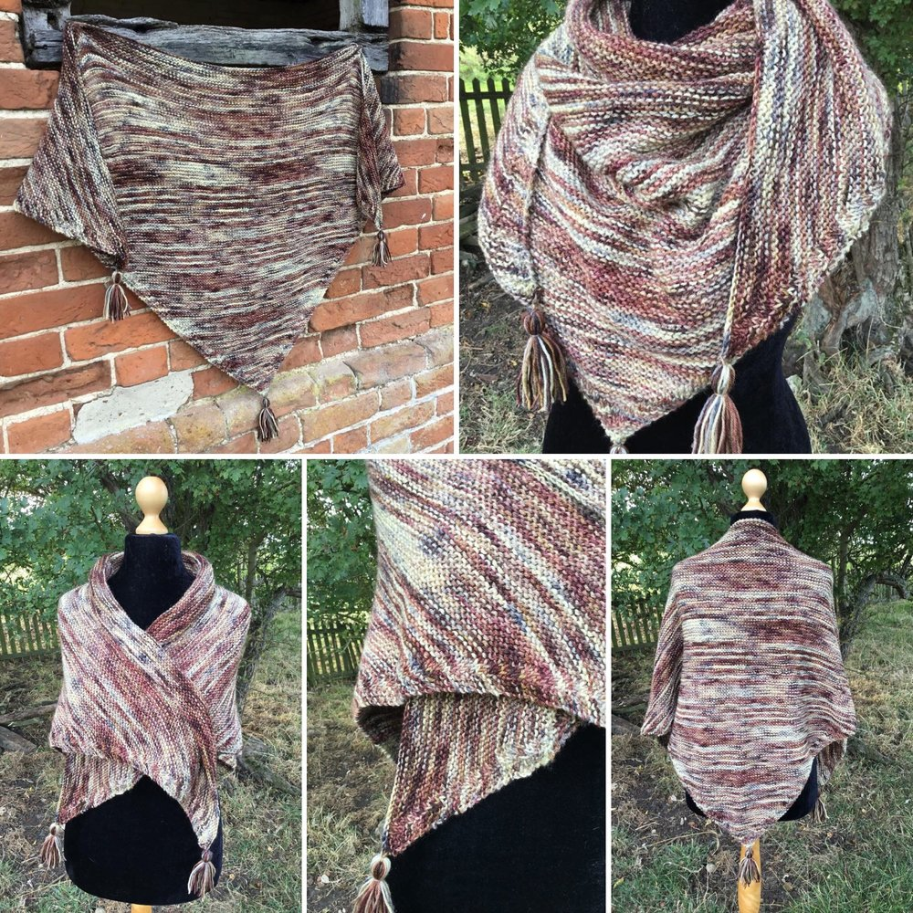 My Sassenach - This is one of the new designs by Kate Whiting for the Fall 2018 Outlander KAL/CAL. This pattern will be available on October 1, 2018, and a link to the pattern will be added when available.Requirements:700m of DK weight yarn (3-4 skeins),**Please pay attention to the length of your selected yarn as different bases vary in length**Pattern includes instructions on modifying for various sizes/amounts of yarn.As Shown: 3 Skeins of The Faithful Companion in BFL DKCustom Order preferred color/base HERE
