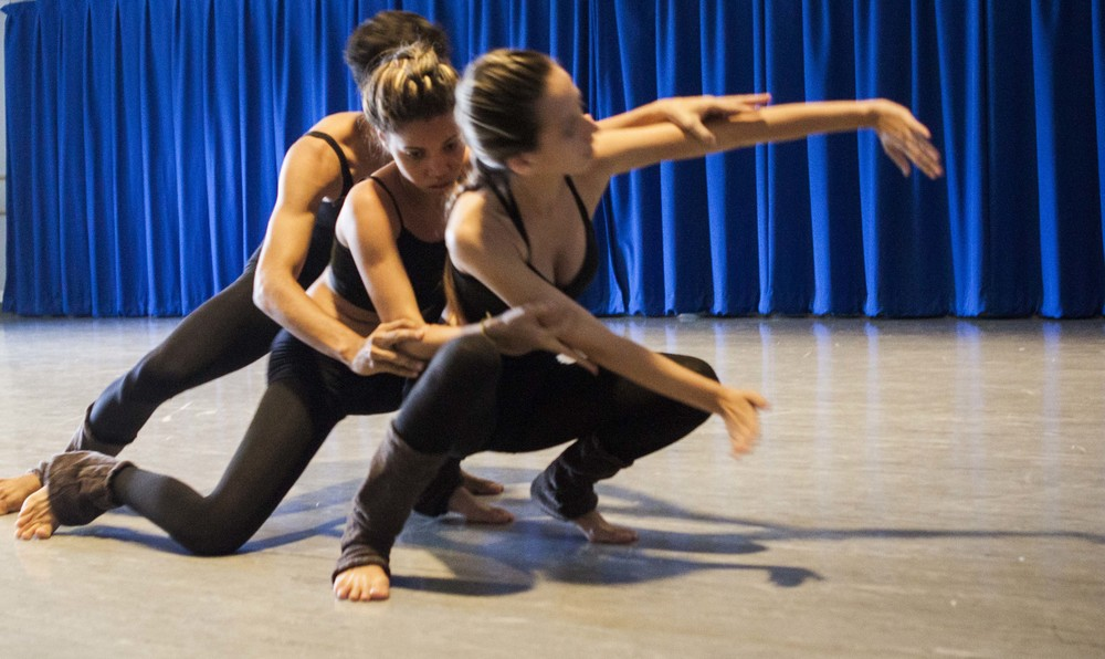 AfroMundi's Lorena Melissa, Camilla Alves and João Paulo Souza present the Amazonian-Contemporary dance-theatre 'Dry Tears' to PolyPrep School as part of IDEA's 'Land and Home' Project, 27 April 2015.