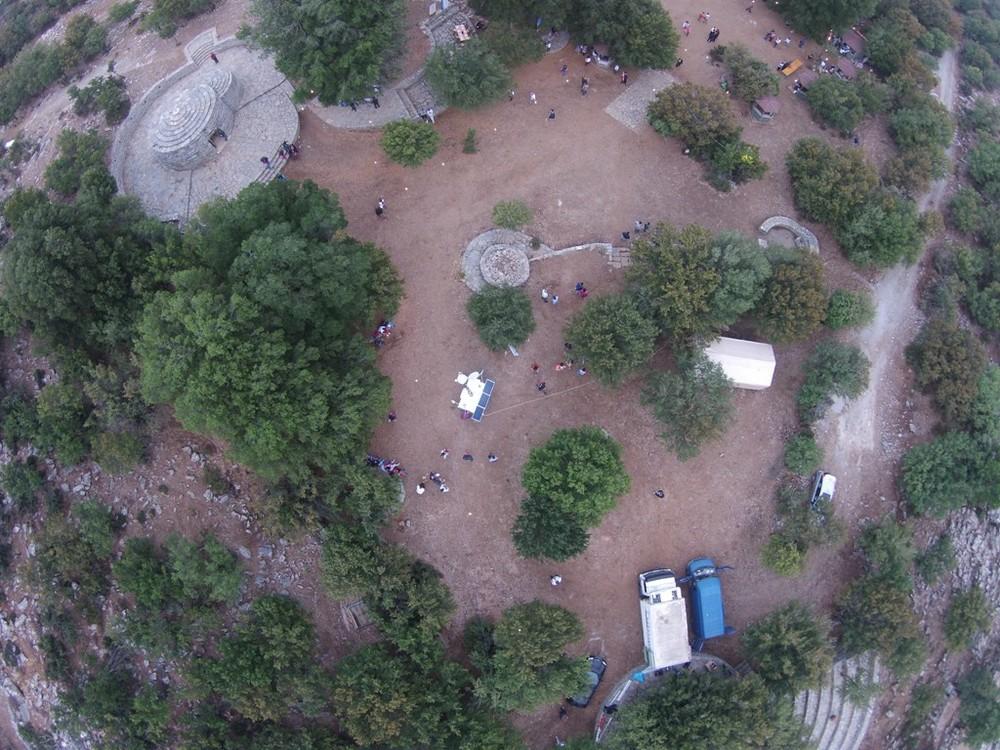 εικόνα από το ιπτάμενο Drone του ΙΤΕ