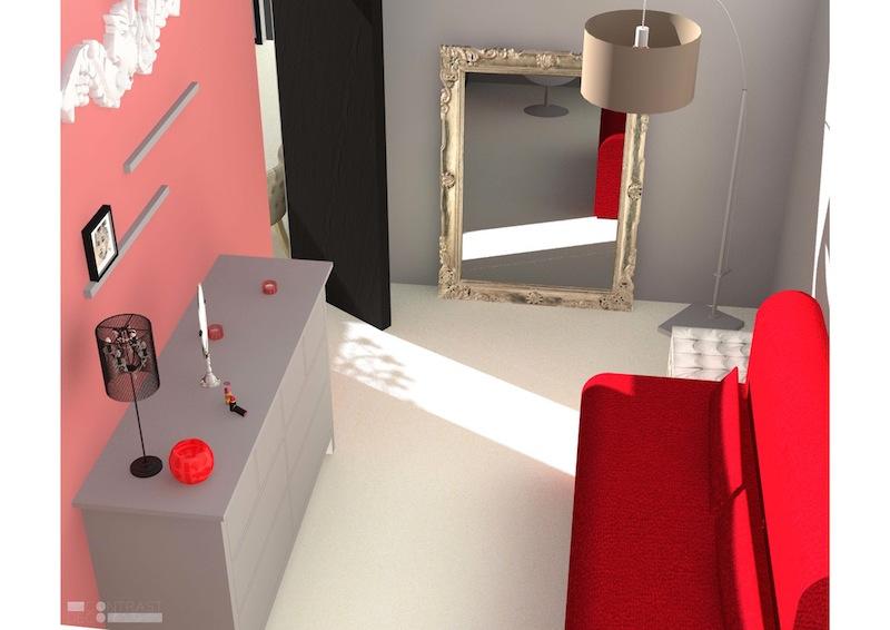 Décoration aménagement appartement Champigny-sur-Marne : bureau 3D