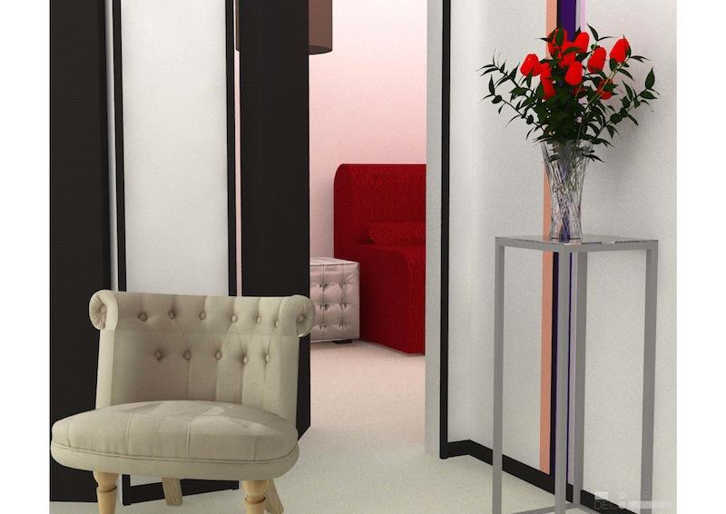 Décoration aménagement appartement Champigny-sur-Marne : entrée 3D