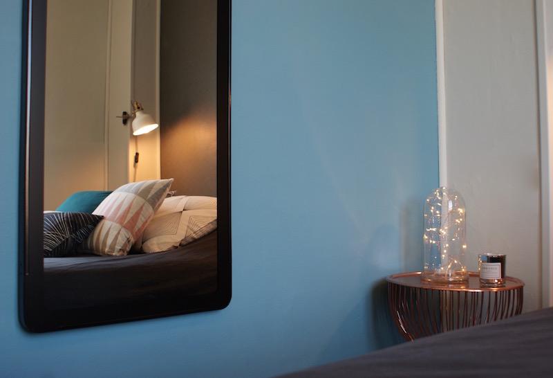 Décoration, aménagement petite chambre Paris 13 : miroir