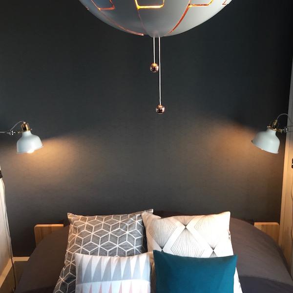 Décoration, aménagement petite chambre Paris 13 : style contemporain