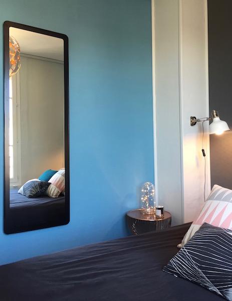 Décoration, aménagement petite chambre Paris 13 : globe en verre
