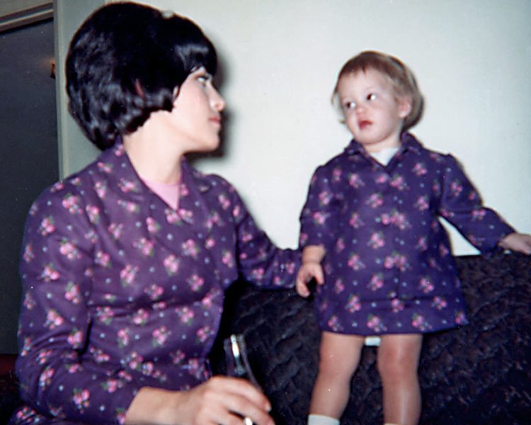 My mother and I when was about 18 months old. See, I told you I was born bossy.