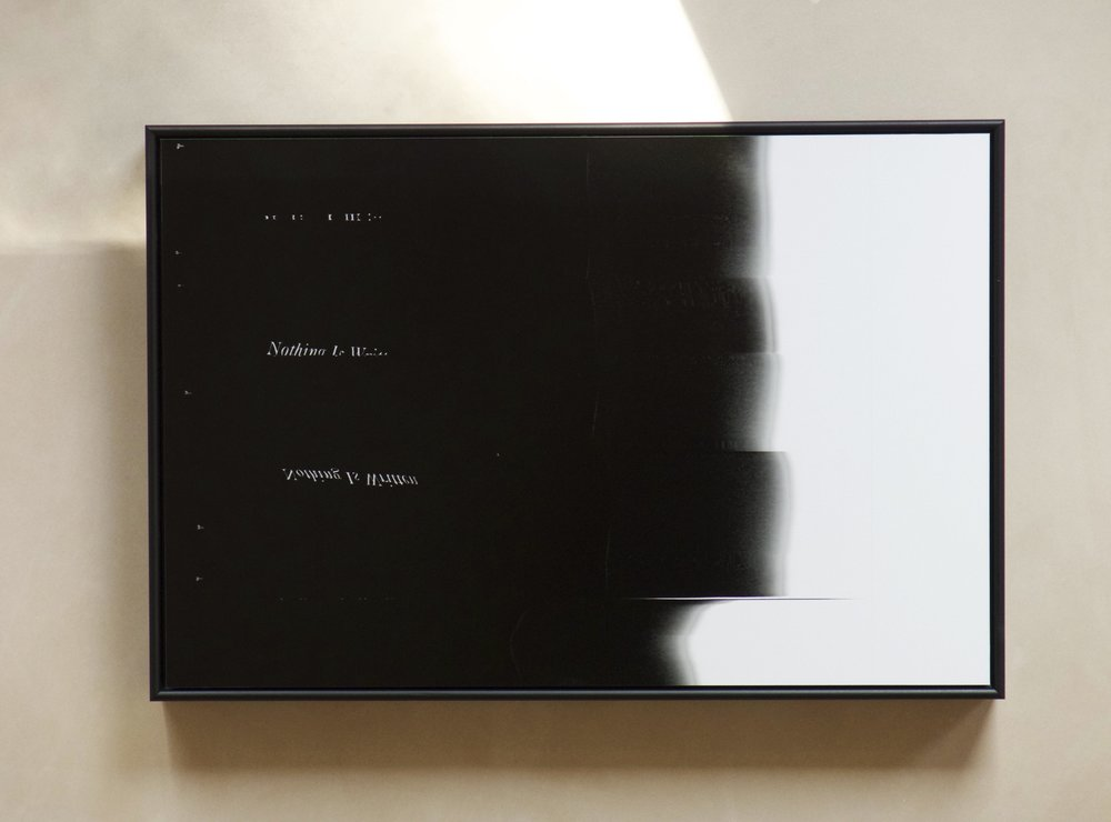 Installation view: Nothing Is Written