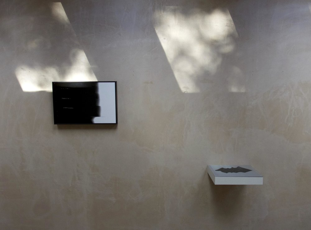 Installation view: Nothing Is Written I & Letter