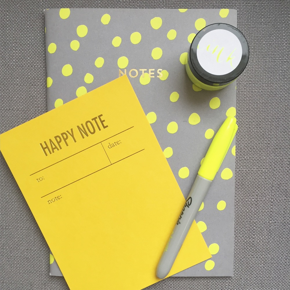 Notebook -  Holly's House  | Happy Note  Tokketok Studio  - | Pen -  Sharpie    Neon Ink -  Quill London