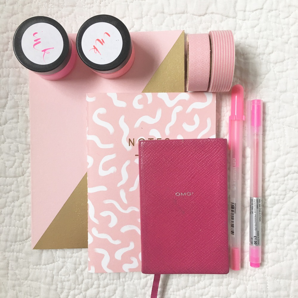 Small Notebook -  Holly's House  | OMG Notebook -  Smythson  | Washi Tape -  Holly's House   Neon Ink -  Quill London  | Pens -  Paperchase