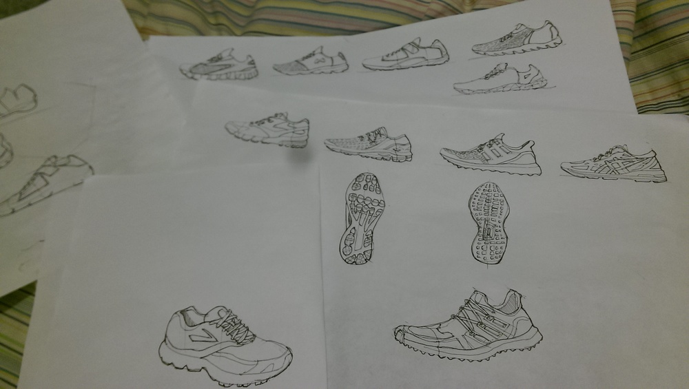 Shoe sketches that will be part of my Footwear sketchbook. I am currently having a hard time sketching bottom of the outsole, but I will master it one day!