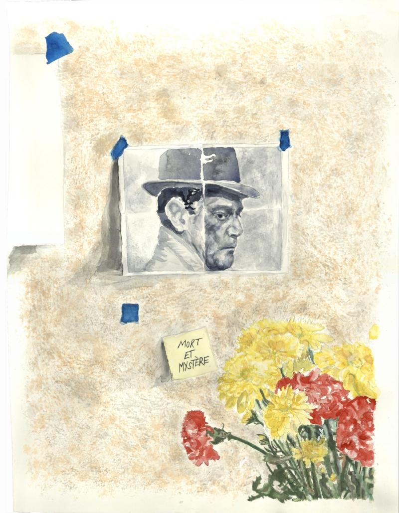 Untitled (Mort et Mystére), watercolor on paper, 2018