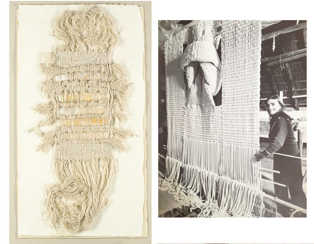 Ecailles  of Sheila Hicks 1976 - the artist in her studio