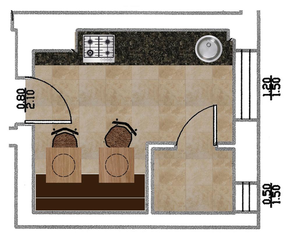 top view kitchen