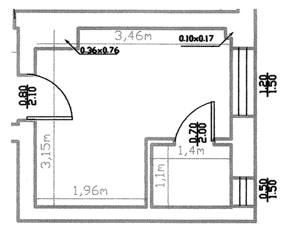 Plan kitchen