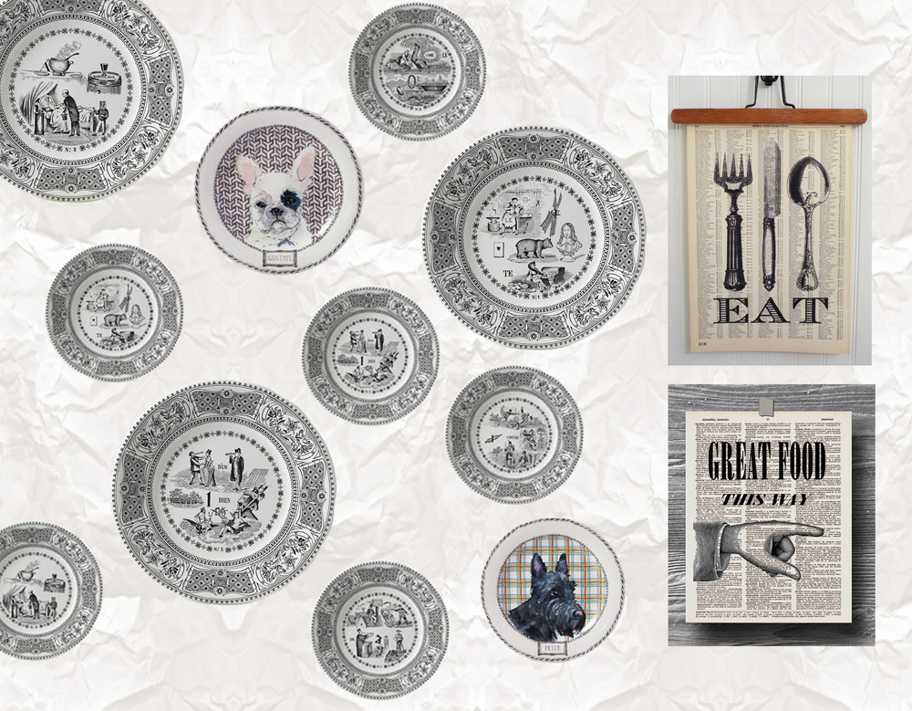 wallpaper Murmures Elitis - plates Faiencerie Gien - prints Print Press FMT