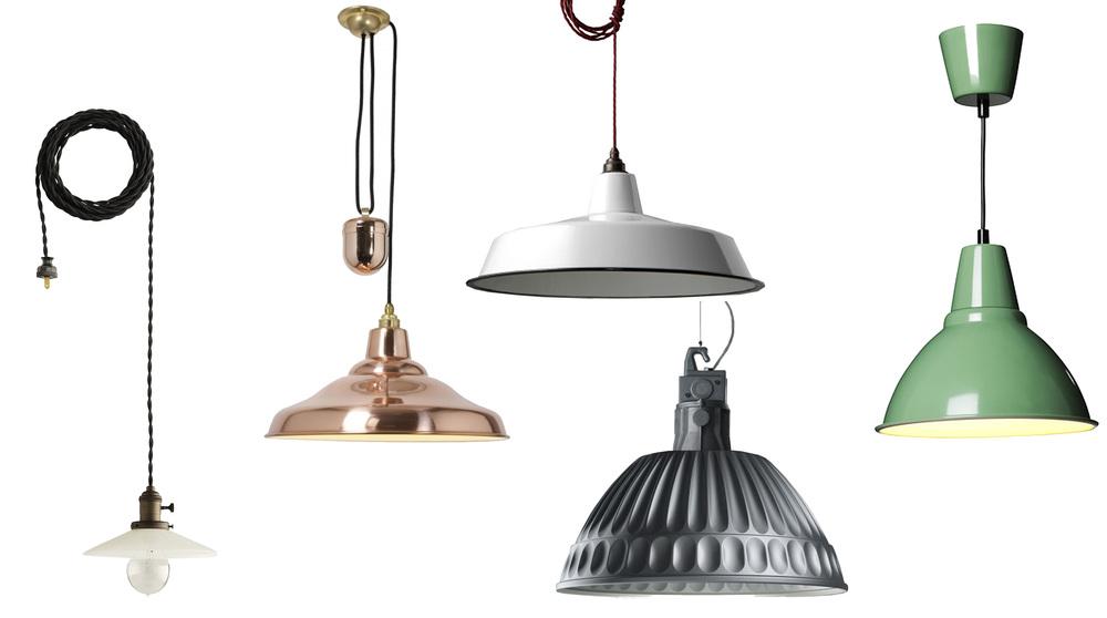 pendants  Schoolhouse Electric  -  Original BTC  -  Nook London  -  Fontana Arte  -  IKEA