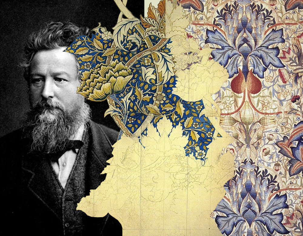 The revival of william morris decorative arts martine for Arts and crafts style prints