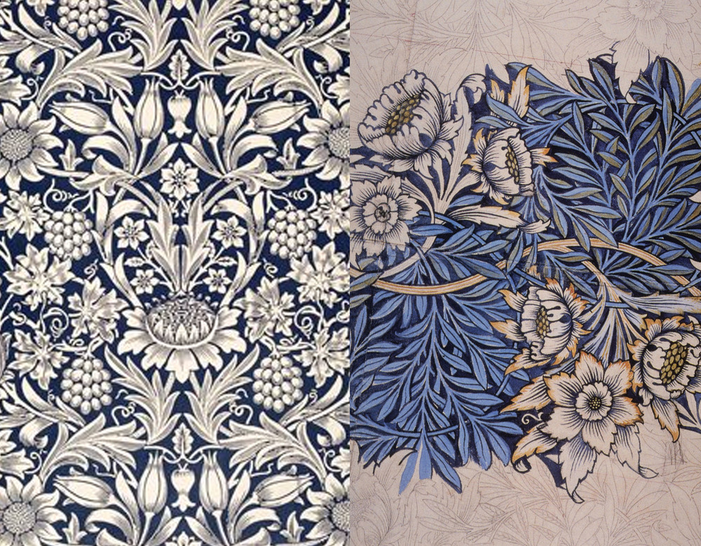 William Morris - Sunflower wallpaper - Tullip and Willow