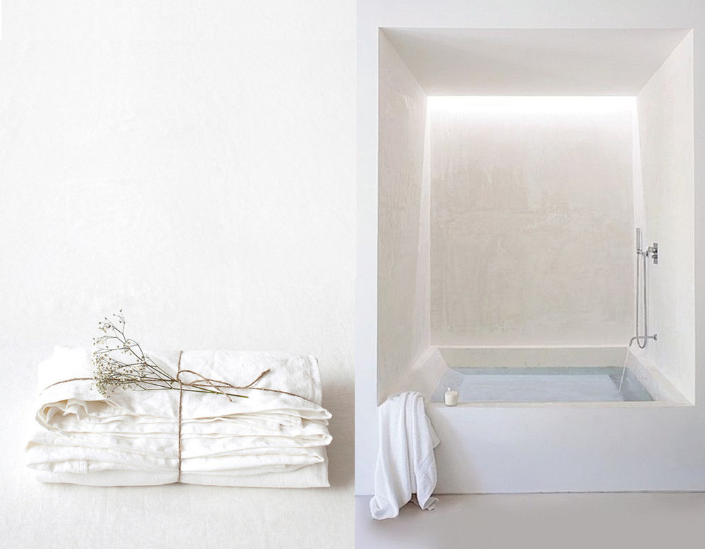 white stone washed linen  Linen Tales  - image bathroom found on  Home and Astray