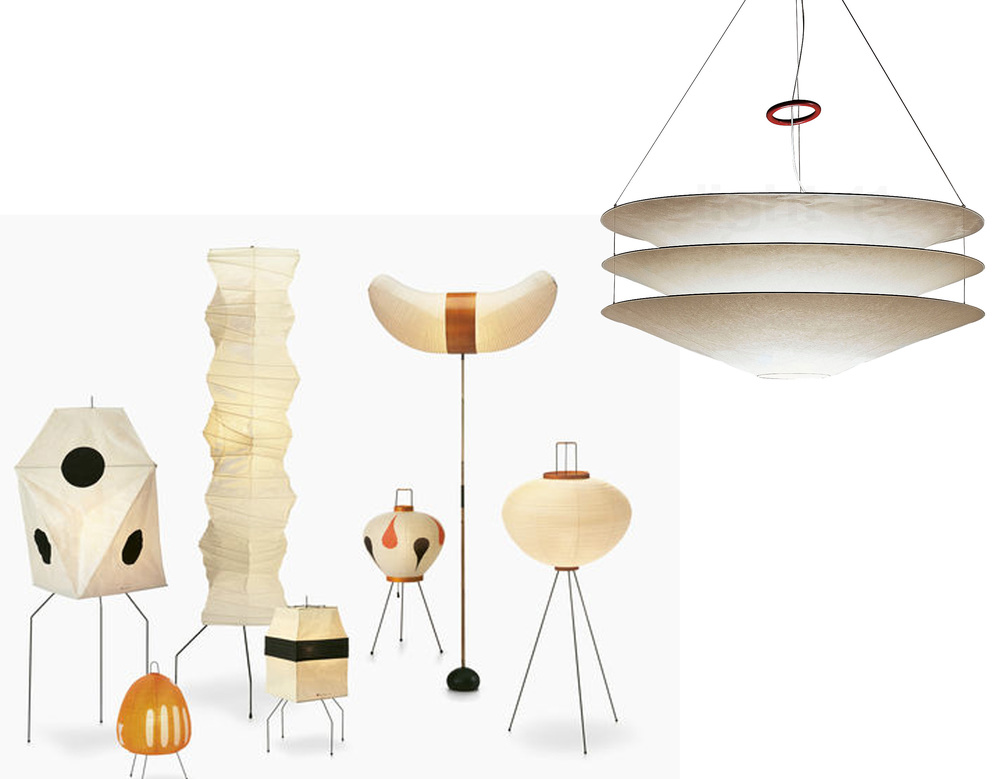 Akari lamps by Isamu Noguchi  Vitra  - Floatation  Ingo Maurer
