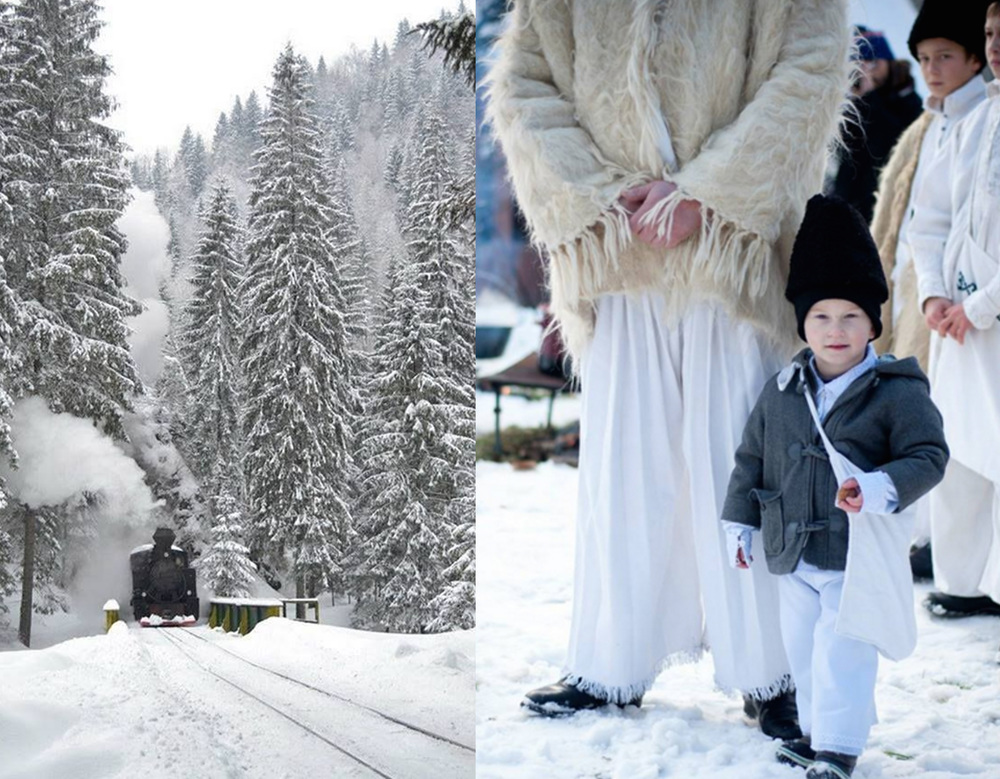 steam train  in Visea de Sus - image Christmas in Maramures by Diana Chereches  Maramuresenii