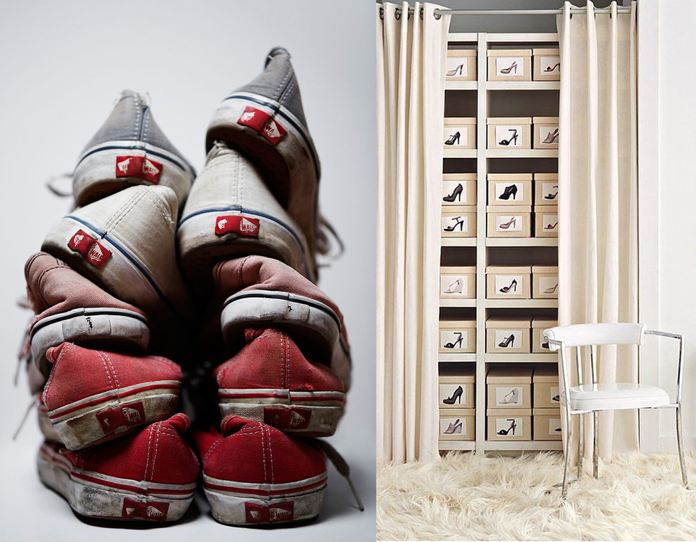 image via  Sunlit Spaces  -  shoes organised via  Popsugar