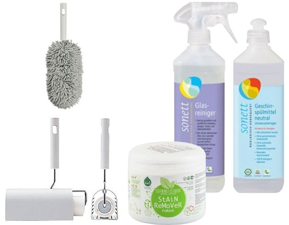 int roller  Muji  - handy mop  Muji  - ecological cleaning products  Republica Bio  -  Elemental