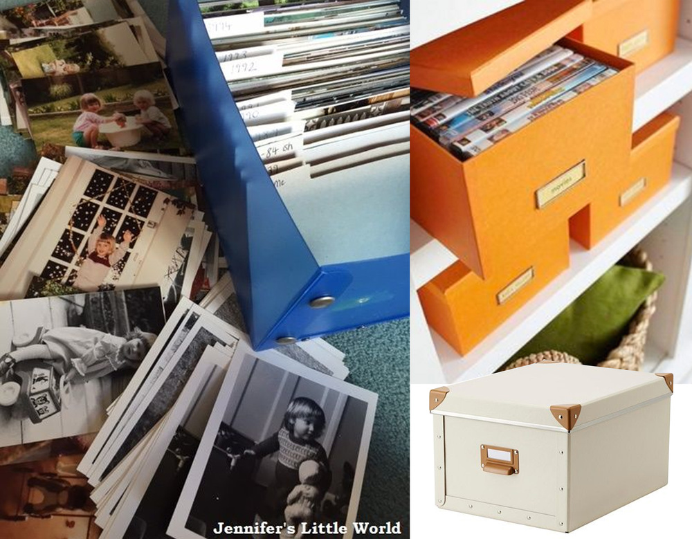 image via  Jennifer's Little World  - box Fjalla  IKEA