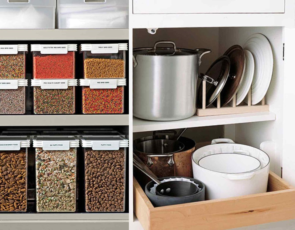 organising cupboard  Martha Stewart