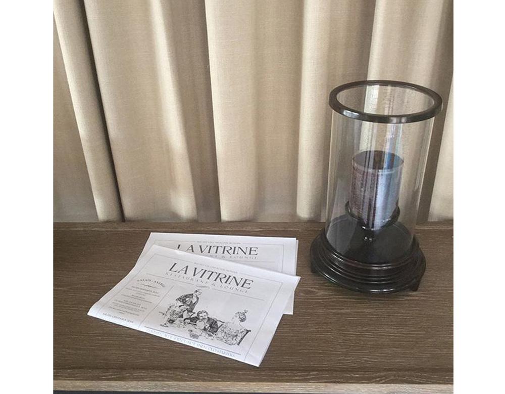 menu La Vitrine